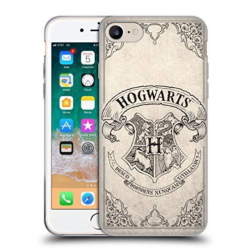 Head Case Designs Oficial Harry Potter Hogwarts Parchment Sorcerer's Stone I Carcasa de Gel de Silicona Compatible con Apple iPhone 7 / iPhone 8 / iPhone SE 2020