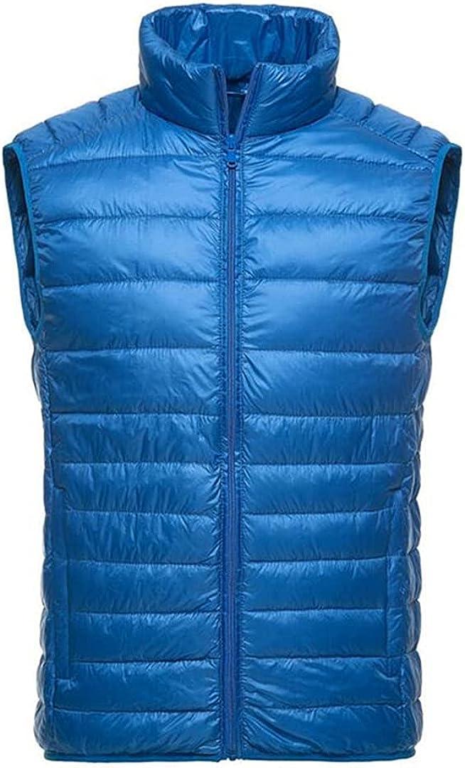 Ultralight Vest Men Spring Autumn White Duck Down Vest Casual Slim Sleeveless Jacket