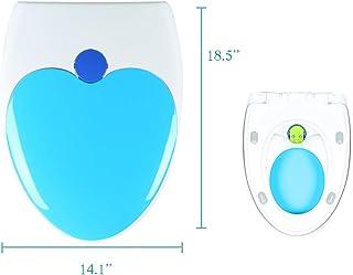 tapa de inodoro de gafas de WC Beige asiento de inodoro con descenso autom/ático y bisagras galvanizadas Tapa de inodoro de dise/ño de madera MDF