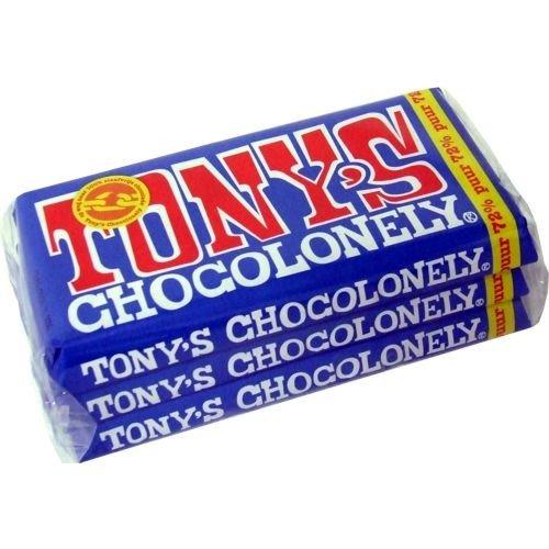 Tonys Chocolonely 'Pure' 3 x 180g (72% Kakao Schokoladentafel)