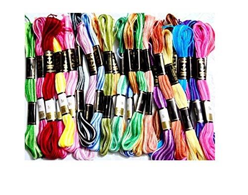 25 Madejas Hilos de Bordar Algodón 100% Colores Variados/Multicolores 8 Metros de Largo Por Madeja (Anchor): Amazon.es: Hogar
