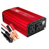 YSOLX 500W Power Inverter DC 12V to 110V AC Converter Car Plug Adapter Outlet Charger for Laptop Computer