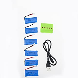 3.7v 500Mah 1S 25C Li-po Battery for JJRC H37 H31 Eachine E50 etc(6 Pcs and 6 in 1 Charger)