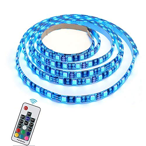 Winbang RGB LED Streifen, LED Hintergrundbeleuchtung 30/60 LED Flexibel 5050 RGB USB LED Streifen Licht mit 5V USB Kabel und Mini Controller für TV PC Laptop Hintergrundbeleuchtung (2m RGB+Remote)