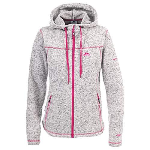 Trespass Odelia, Ghost / Cerise, XXS, Warme Fleecejacke mit Kapuze 300g/m² für Damen, XX-Small / 2XS / 2X-Small, Rosa / Pink