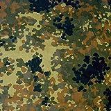 TOLKO Bundeswehr Camouflage Stoff aus Ripstop Nylon | dünn