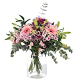 Ramo de Flores variadas en Tono Rosa, Flores Naturales a Domicilio Blossom® | Flores Frescas y Recién Cortadas a domicilio | Sant Jordi, San Valentín, Día de los Difuntos | Entrega Gratis 24 horas
