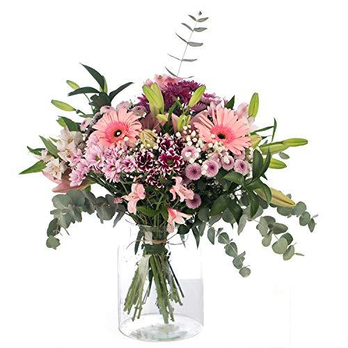 Ramo de Flores Variadas en Tono Rosa | ENTREGA GRATIS 24 HORAS | Flores Naturales a Domicilio Blossom® | Flores Frescas y Recién Cortadas a domicilio
