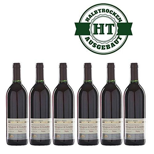 Rotwein Nahe Portugieser und Dunkelfelder Weingut Roland Mees Kreuznacher Rosenberg halbtrocken (6x0,75l)