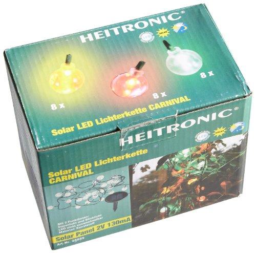HEITRONIC SOLAR LED LICHTERKETTE CARNIVAL 24-TEILIG