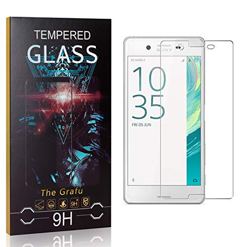Best Deals! The Grafu Screen Protector for Sony Xperia X, 9H Hardness, High Transparency, Anti Scratch Tempered Glass Screen Protector Compatible with Sony Xperia X, 3 Pack