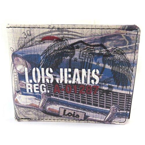 Lois Jean [N5919] - Wallet italienisch 'Lois Jean' Mehrfarbig (Oldtimer)- 11x9x2.5 cm.