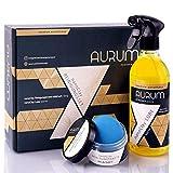 Aurum-Performance Reinigungsknete mit Gleitmittel zur professionellen Autopflege - Entfernt mühelos Flugrost, Insektenreste, Lackablagerungen - nanoClay Set (Lackknete mild + Spezial Gleitspray)