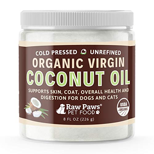Raw Paws Organic Virgin Coconut Oil for Dogs &...
