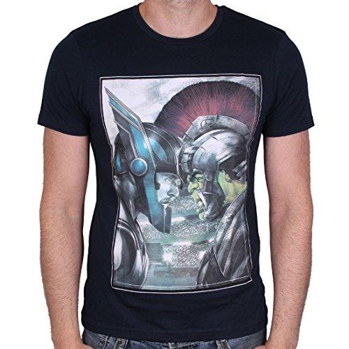 Marvel Comics - Hulk vs Thor Herren T-Shirt - Face to Face (Schwarz) (S-XL) (L)