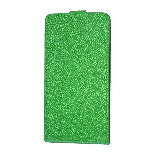 caseroxx Flip Cover für Archos 50 Helium Plus, Tasche (Flip Cover in grün)