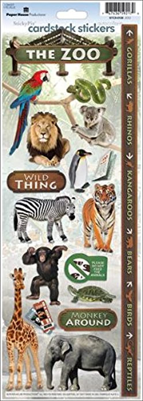 Paper House Productions STCX-0126E Cardstock Stickers, Zoo (6-Pack) xzbmqe2645
