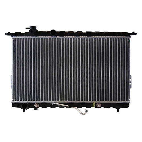 AutoShack RK883 28.5in. Complete Radiator Replacement for 1999-2005 Hyundai Sonata 2001-2006 Kia Optima Magentis 2.4L 2.5L 2.7L