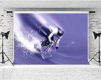 HD自転車レースの背景自転車レースの恋人の壁紙の紫色の背景写真スタジオの小道具7X5ftFSYM192