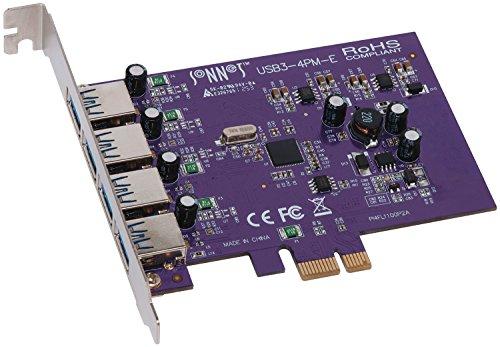 Sonnet-E interne USB3-4PM-E USB 3.0 USB Adaptateur Carte d'interface PCIe USB 3.0 Accessoire ( Fresco Logic)
