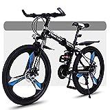 Bicicleta de montaña Mountainbike Bicicleta Bicicleta de montaña, duro plegable-cola bicicletas de montaña, marco de acero, de doble suspensión y freno de disco, ruedas de 26 pulgadas Bicicleta De Mon