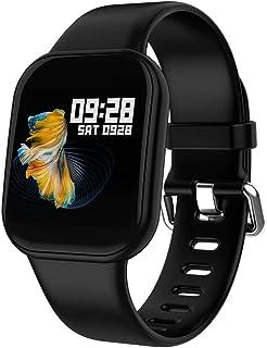 DLIBIG Smartwatch con Pulsometro Actividad,Fitness Tracker IP67 Impermeable Monitor de Actividad Pantalla Color Pulsera Podómetro con Pulsómetro,para Android y iOS Hombre Mujer
