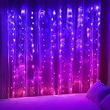 Vorhang Lichterkette zum Aufhängen für Mädchen Schlafzimmer Einhorn Meerjungfrau 160 LED rosa...
