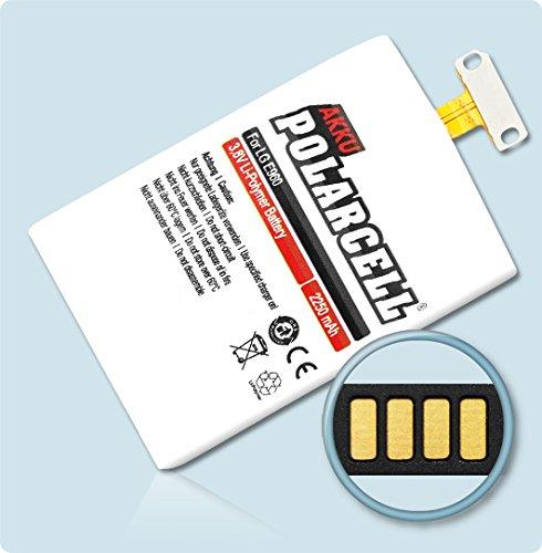 Polarcell - Batería para LG Optumus G E960, Google Nexus 4 E975 y Bl-T5 (2250 mAh, 8,55 WH, polímero de Litio)