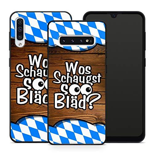 Handyhülle Bayrische Sprüche für Samsung Silikon MMM Berlin Hülle Bayern Wiesn Bairisch Spruch Bier, Hüllendesign:Design 2   Silikon Schwarz, Kompatibel mit Handy:Samsung Galaxy A20e