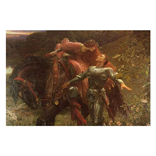 La Belle Dame Sans Merci by Sir Frank Dicksee Puzzles for Adults, 1000 Piece Kids Jigsaw Puzzles Game Toys Gift for Children Boys and Girls, 20' x 30'