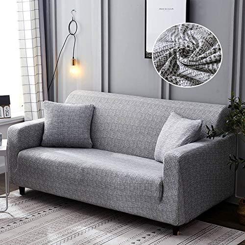WXQY Funda de sofá con diseño de Hoja nórdica, Funda de sofá elástica para Sala de Estar, Funda de sofá Universal para Mascotas, Funda de sofá Individual para el hogar A23 2 plazas