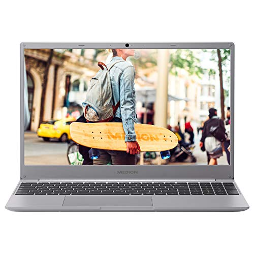 MEDION E15403 39,6 cm (15,6 Zoll) Full HD Notebook (Intel Core i3-7020U, 4GB DDR4 RAM, 256GB PCIe SSD, Webcam, Win 10 Home)