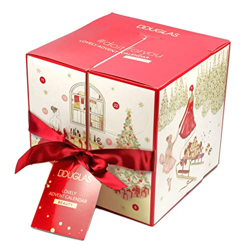 Douglas - Adventskalender 2019 - Lovely Advent Calendar BEAUTY - Würfel - Rot - Beauty - Kosmetik - MakeUp - Limitiert - #doitforyou - Beautykalender im Wert von 200 €