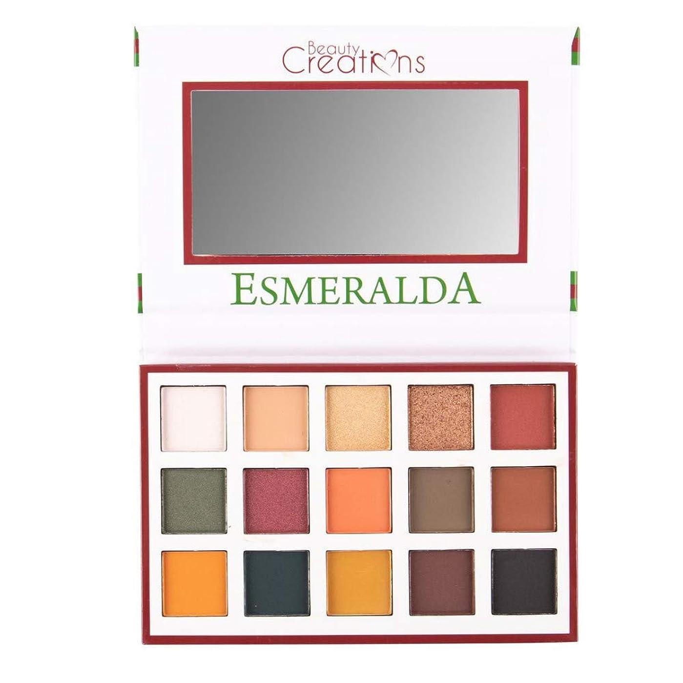 頑固な競合他社選手ダイジェスト(3 Pack) BEAUTY CREATIONS Esmeralda 15 Color Eyeshadow Palette (並行輸入品)