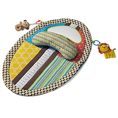 Xzbnwuviei Alfombrilla de juguete musical para recién nacido, música, suave, para gimnasio, para el piso, actividad física, con almohada, espejo y barra de altura