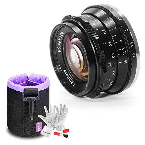 【1年保証】7artisans 35mm f1.2レンズ レンズポーチバッグ同梱 マニュアルフォーカス(Fuji-Xマウント)