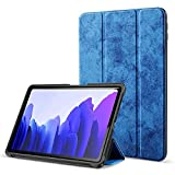 Robustrion Marble Series Smart Trifold Flip Stand Case Cover for Samsung Galaxy Tab A7 10.4 inch [SM-T500/T505/T507] 2020 - Navy