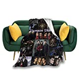 ANGOGO Camping Blanket,vam-pire Dia-RIE-s Decorative Bedspread Throw Blankets All Season for Couch, Sofa, Bed,Travel 50'X40'(127cmx102cm)