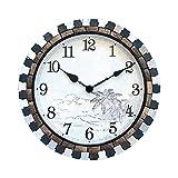 Relojes De Pared Reloj de pared de 18 pulgadas Creativo Mudo Reloj de cuarzo Cultura natural La piedra y la decoración de cáscara de coco es muy adecuada para interiores o para regalos para amigos Ofi