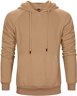 MANLUODANNI Mens Plain Pullover Hoodie Hooded Sweatshirt Tops with Kangaroo Pocket 8 Colors