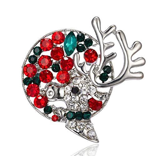 BLINGBRY insteeknaald giraf Vintage Alci Kerstmis giraf slinger strass olie geschilderd insteeknaald dames schattige jurk geschenken sieraden