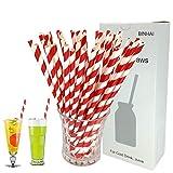 Binhai Cannucce di Carta 100 Pezzi Red, Riciclata con imballaggio biodegradabile Bulk cann...