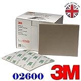 3M 2600Micro Fine Schleifmittel broschierte Ausgabe Schleifschwamm (5Stück) Grade Serie 1200#, 1.500#