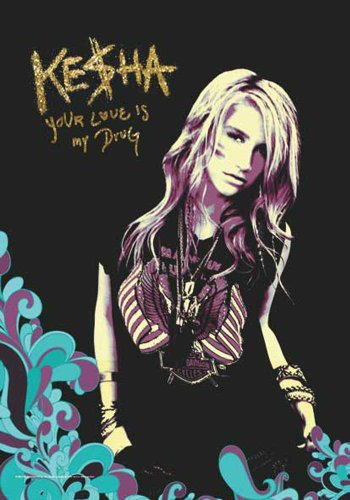 Kesha Drapeau – Your Love Is My Drug – poster drapeau 100% polyester taille 75 x 110 cm