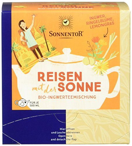 Sonnentor Reisen mit der Sonne Bio Tee, Kannenbeutel, 2er Pack (2 x 36 g)