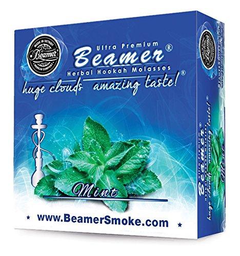 Mint Beamer Herbal Hookah Shisha Molasses 50g. Huge Clouds, Amazing Taste! Tobacco Free, Nicotine Free. Better Taste & Clouds Than Tobacco. Made in USA! Use with Hookah Nargila, Charcoal