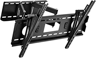 TV Stand Metal Hinge Arm VESA Up to 600 * 400mm Rotatable Telescopic Wall Mount Bracket Monitor Rack (Color : Black, Size ...