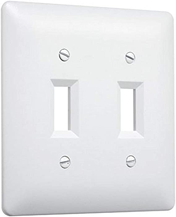 Taymac 4440w Paintable Triple Toggle Light Switch Wall Plate Cover White 3 Gang Amazon Ca Tools Home Improvement