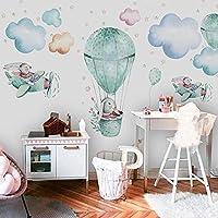 3D手描き壁紙カスタム任意のサイズの壁画平面ウサギキッズ寝室の壁画モダンクリエイティブアート壁紙