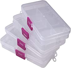 Jianhua 10 Grid Compact Small Size Jewellery Boxes (Pack of 4) - for Home & Locker